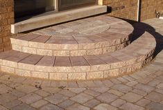 Paver Patio in Schaumburg, IL - Patios & Hardscapes Photo Gallery Patio Steps, Front Porch Steps, Brick Steps, Front Stairs, Outdoor Steps, Stone Steps, Front Entry, Brick Patios, Stone Patios