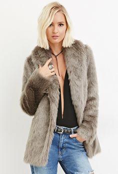 Shawl Collar Faux Fur Coat Was:$79.90 Now:$55.93