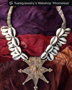 Berber Cross with Davidstar & Cowrieshells Collected by Ineke Hemminga