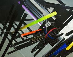 Virtuální prostory [2] - akryl, olej na plátně (250 x 200 cm) 2014