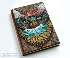 Native+American+Owl+Polymer+clay+journal++A6A5+by+MyMandarinDucky,+£150.00