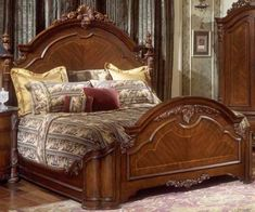New Cost-Free pakistani Bedroom Furniture Sets Ideas Here are some tips on how to embellish your bedroom. If you have ever checked out your current sleeping quarte. Wood Bed Design, Bedroom Bed Design, Bedroom Sets, Luxury Bedroom Furniture, Bed Furniture, Antique Furniture, Carved Beds, Fitted Bedrooms, Upholstered Bed Frame