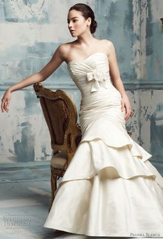 Wedding dress by @PalomaBalnca