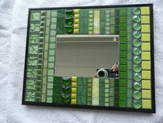 Stunning Green Mosaic Mirror / Wall Art - Line Up