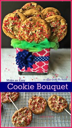 Homemade Cookie Bouquet - An Affair from the Heart -- It's simple to make a cookie bouquet right at home. Here is a step by step instructional!
