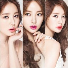 Yoon Eun Hye highlights her perfectly plump lips in three bright shades for 'MAC'
