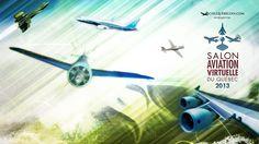 Affiche du salon de l'aviation virtuelle du Québec 2013.