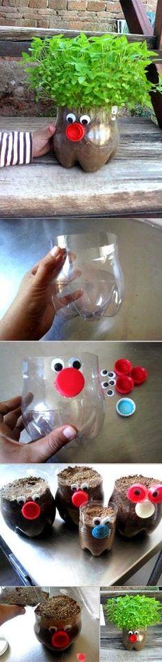 Recicla a las botellas de plástico con este original tip. #reciclar #DIY #botellas #plastico