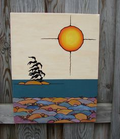 "Native Art ""Georgian Bay Sunset"" Canadian  artist"