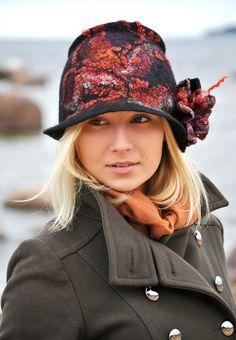felt hat from Jelena Ost