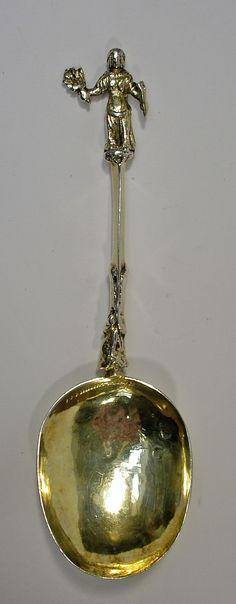 Verguld zilveren gelegenheidslepel, Amsterdam 1716