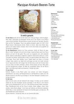 Marzipan Krokant Beeren Mousse Torte - Marzipan Brittle Berry Mousse Cake