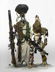ArtStation - Mech Compilation, by Ricardo Robles Character Concept, Character Art, Concept Art, Robots Characters, Fantasy Characters, Cyberpunk Character, Star Wars Droids, Ex Machina, Science Fiction Art