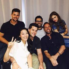 """Pin for Later: 32 Teen Wolf Cast Snaps That Will Give You Serious Pack Envy Arden Cho: """"Happy Sunday with the gang in Paris! Love you guys! #Teenwolf"""""""