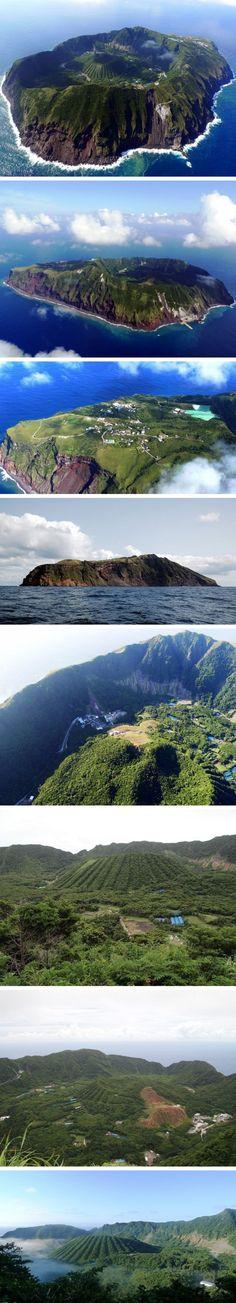 Muhteşem Fotoğraflarıyla Volkanik Aogashima Adası - Japonya