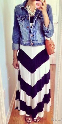 GAP Chevron Maxi Dress | Ella Pretty