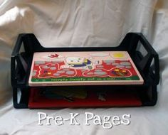 Cheap and Easy Puzzle Storage Solution for Preschool and Kindergarten
