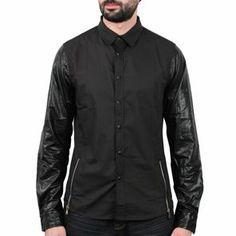 Sixth June - Simili Zip Shirt Noir