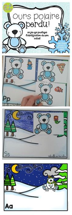 """A super cute, super fun game/literacy centre to add to your collection of winter-themed French resources! Students will think they are using each lost baby polar bear's """"clue"""" to help them find their dads... what they will really be doing is sorting words based on their beginning sounds ;) Nothing like learning & practicing important skills without even realizing it! This game is simple to play and simple to prep - just print, cut the cards, and laminate!"""