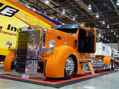 """1995 Peterbuilt up as a hot rod. It was fabricated for something call the """"Big-Rig Build-Off"""" and it certainly lives up to it's name """"Rock Bottom""""."""