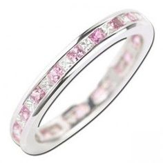 wedding ring pink diamond
