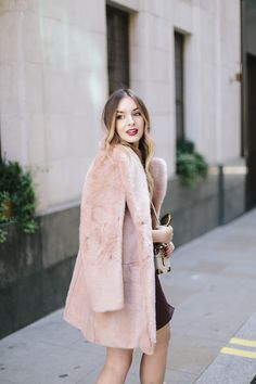 Pink & Burgundy, fur cost, style, fashion, blogger, what olivia did