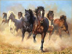 horse painting by Bonnie Marris