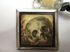 Creepy Skull Charm Necklace by MagikalMakings on Etsy