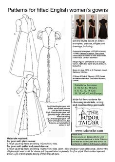 From The Tudor Tailor.