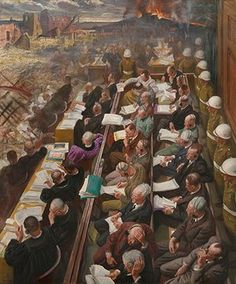 Laura Knight: The Nuremberg Trial, by Dame Laura Knight