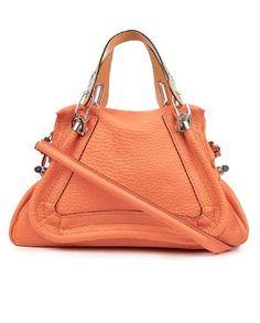 Chloé Orange Paraty Medium Shoulder Bag