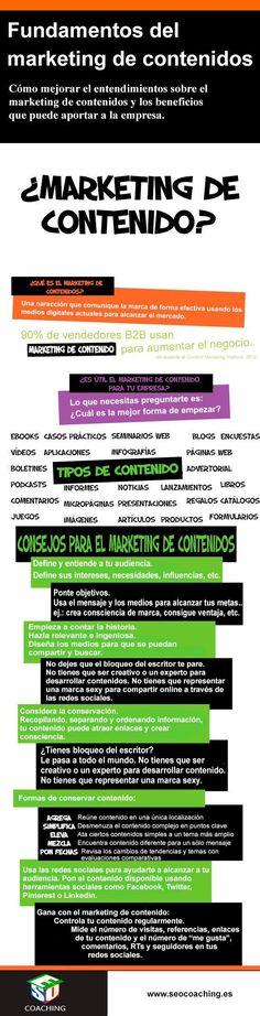 Los fundamentos del #Marketing de contenidos. #infografia