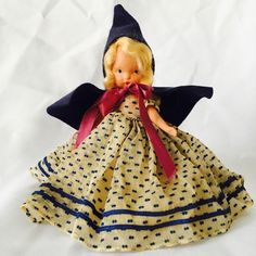 "Vintage Nancy Ann 5"" Bisque Storybook Doll - Rain, Rain, Go Away #NancyAnn"
