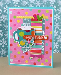 Cute Cards, Diy Cards, Coffee Cards, Snowball Fight, Diy Christmas Cards, Christmas Inspiration, Card Ideas, Scrapbooking, Box