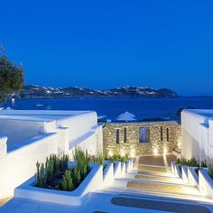 A #MomentofZen: Exploring Mykonos in the moonlight  by jetsetterdotcom