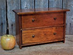 Antique Vintage Wood Miniature Chest Dresser Salesman Sample Doll #Country