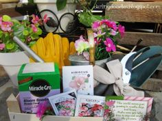 Gardening Gift -   •Gardening Tools  •Gloves  •Seed Packets  •Fertilizer  •Watering Can  •Hat  •Sunscreen  •Plants & Flowers  •Pots and Plant Containers