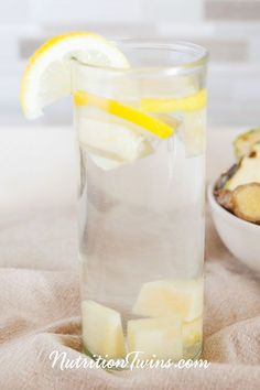 "Pineapple Lemon Ginger ""Detox"" Drink 