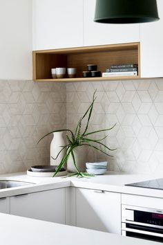 Kitchen shelf design - Before & after New layout opens up dark apartment – Kitchen shelf design Kitchen Design Small, Timber Kitchen, Small White Kitchens, Kitchen Design, Kitchen Shelf Design, Kitchen Sets, New Kitchen Designs, Shelf Design, Apartment Kitchen