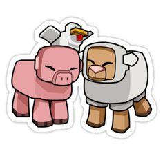Minecraft Animals - Minecraft Chicken, Minecraft Pig, and Minecraft Sheep