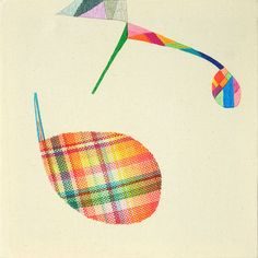 Takashi Iwasaki, 'Chochingerm,' (2010),  25 cm x 25 cm Embroidery floss and fabric www.textilecurator.com