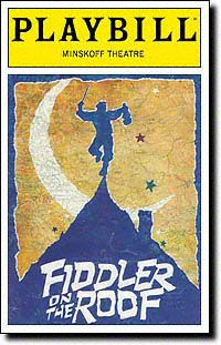 Fiddler on the Roof Playbill Covers on Broadway - Information, Cast, Crew, Synopsis and Photos - Playbill Vault