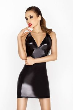 eb172017894 Passion Wet Look Plunge Dress - Bondara - andbull  Ooze sex appeal in this wet  look dress andbull  Plunging neckline accentuates your cleavage andbull  ...
