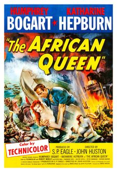 John Huston's The African Queen premiered on December starring Humphrey Bogart and Katharine Hepburn. Valuable The African Queen movie memorabilia includes one sheet, insert and half sheet posters, movie stills, lobby cards and British, German a Katharine Hepburn, Old Movie Posters, Classic Movie Posters, Classic Movies, Film Posters, Cinema Posters, Humphrey Bogart, Old Movies, Great Movies