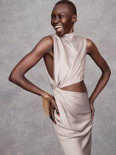 Alek Wek showcases this season's best evening gowns on #TheStyleReport #MATCHESFASHION | #JasonWu