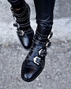 Mornings like this call for classic flat ankle boots. Givenchy's studded buckle boots are the perfect answer.  #Givenchy #RainyDay #CricketFashion