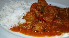 Recept   Maďarský telecí paprikáš   OCG Chana Masala, Curry, Beef, Ethnic Recipes, Food, Style, Red Peppers, Meat, Swag