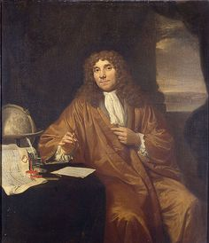 Jan Verkoje portrait of  Antonie van Leewenhoek, who invented or greatly improved the microscope (opinions differ) and was the first to methodically study microscopic life, thus laying the foundations for the field of cell biology.