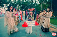 Photographer - The Bride Entry! Photos, Hindu Culture, Beige Color, Destination Wedding, Goa Wedding, Bridal Entry pictures, images, WeddingPlz
