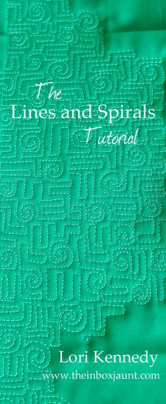 Lines and Spirals Free Motion Quilting.  xxx